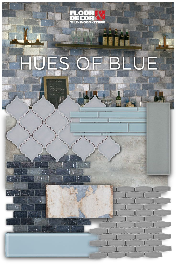 From blue glass porcelain tile to blue mosaics...