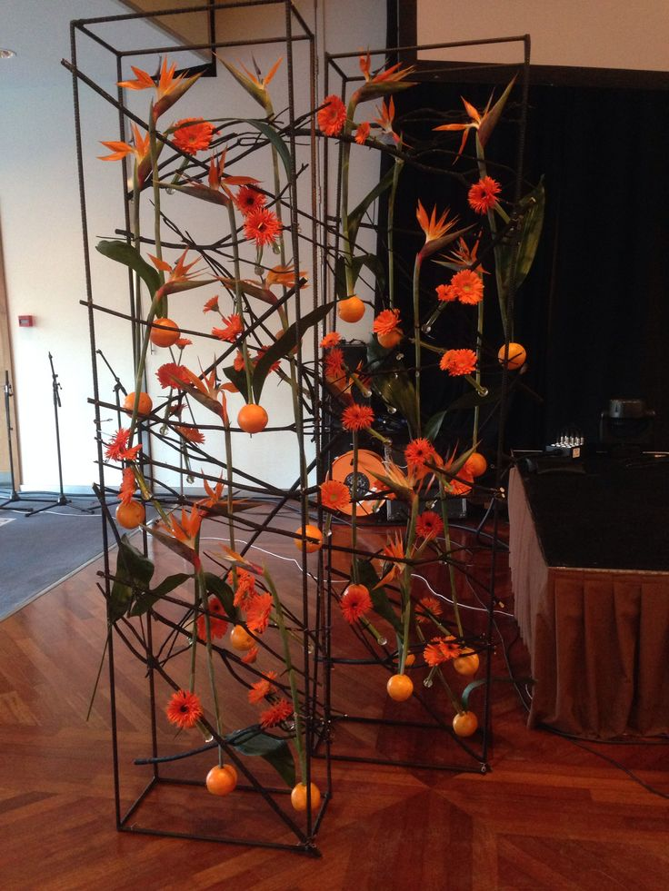 Dekorering på Plaza, Papegøyeblomster og appelsiner