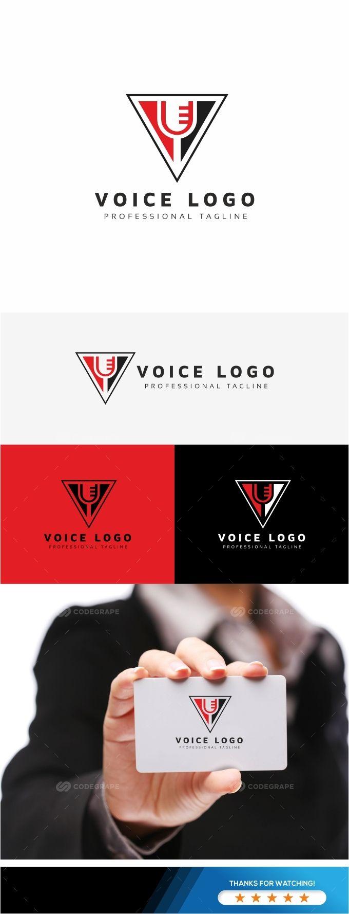 Voice V Letter Logo Letter Logo Lettering Premium Logo