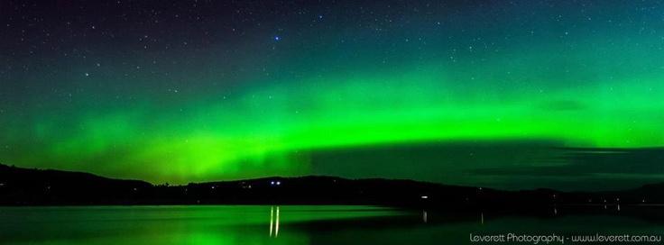 australia & australian #2 Aurora Australis  - Image  taken at Franklin, South of Huonville, Tasmania  Australia - by  Leverett Photography