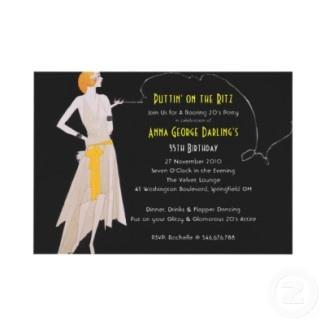 yellow dress great gatsby invite