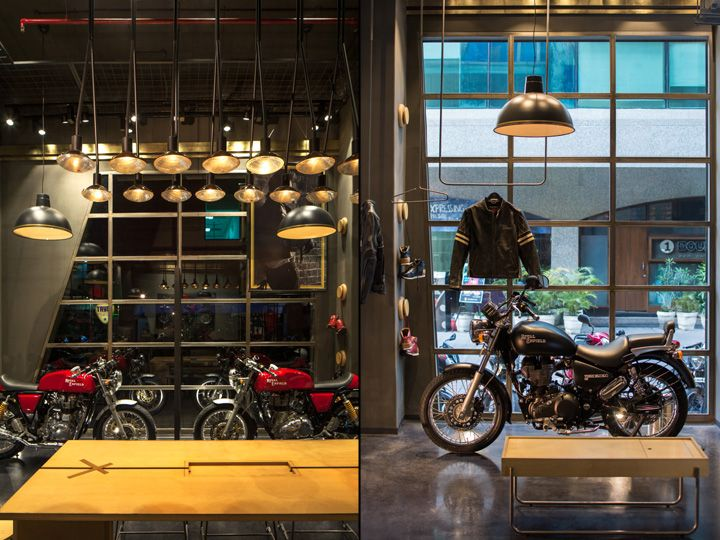 Royal Enfield store by Lotus, New Delhi – India » Retail Design Blog