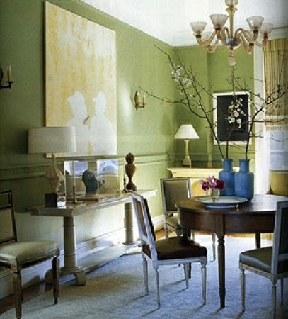 No.251 Curlish Green - A yellow-green colour has been used decoratively for centuries,   both on its own and as a ground beneath patterned wallpapers