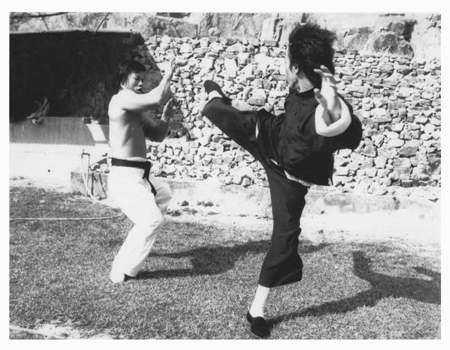 Bruce Lee and Bolo Yeung