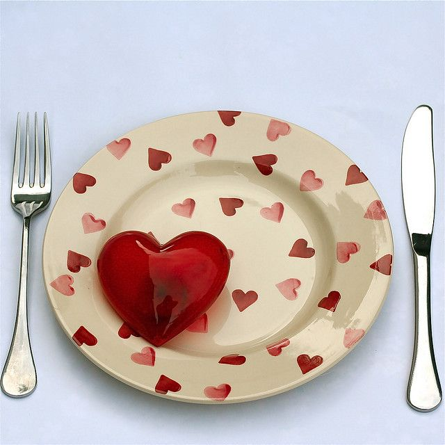 Heart Plate With Red And Pink Hearts.