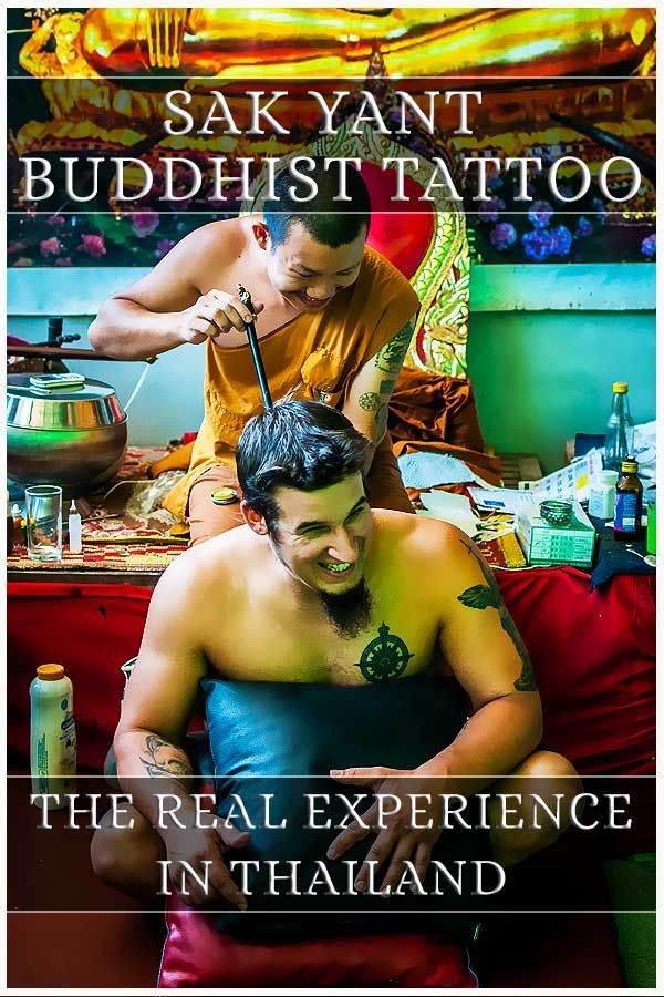 Read about getting a Sak Yant Buddist Tattoo. A real Bamboo Tattoo in Thailand #tattoo #sakyant #thailand