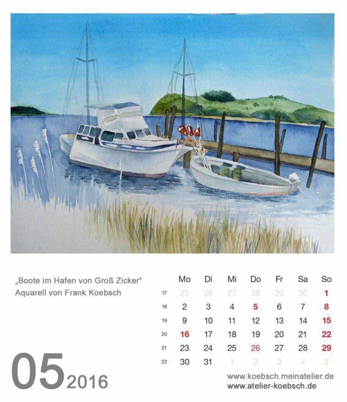 Kalenderblatt Mai 2016 | Bilder, Aquarelle vom Meer & mehr - von Frank Koebsch