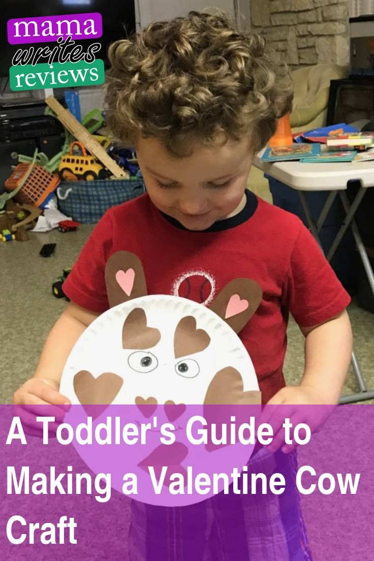 Ever wondered how a #twoyearold #toddler makes a #cow #valentine #craft? I've got the answer!