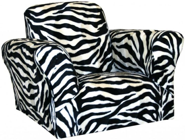 Modern Zebra Print Saucer Chair With Double Arm Side Design Ideas Tube Shaped And Square Shaped Back Rest Style Also Soft Fabric Materials Seat Cushions Cover