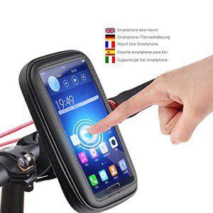 Color Dreams® Support téléphone vélo ou moto, support portable vélo, Support vélo du guidon, Rotation à 360 °, boîtier étanche pour les…