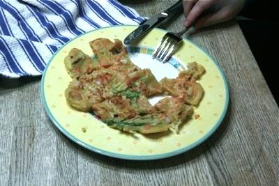 Korean Vegetable Pancake (Pa Jun)- made with shrimp