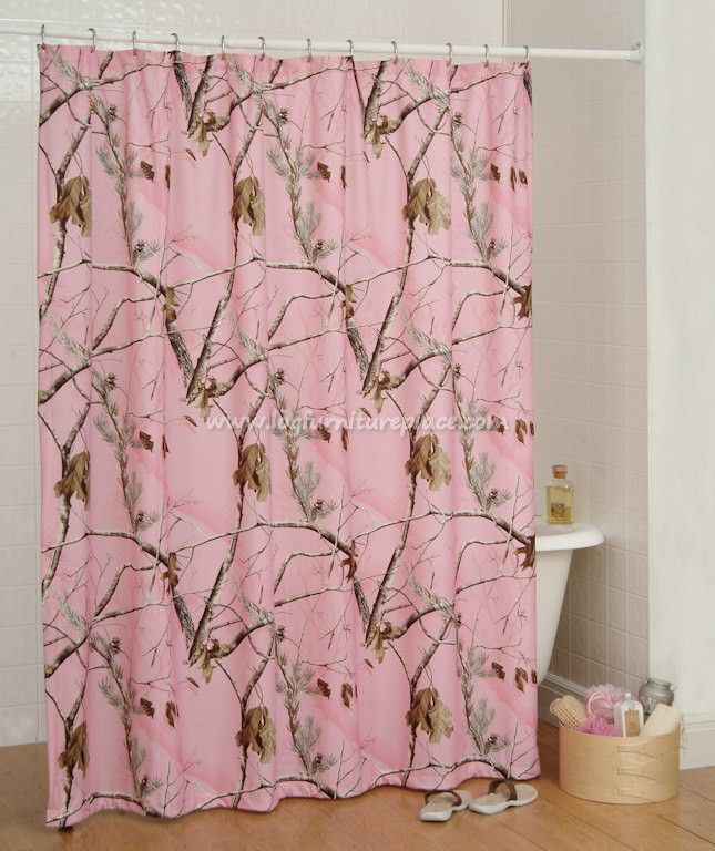 Realtree All Purpose Pink Camo Shower Curtain- Camouflage & Hunting Decor