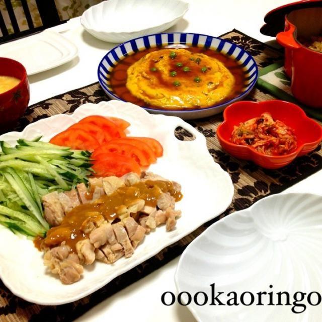 ルクルーゼで炊くと美味しい - 28件のもぐもぐ - かに玉、棒棒鶏、ルクルーゼで中華おこわ by oookaoringooo