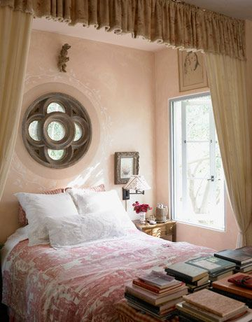 Round window + piled books