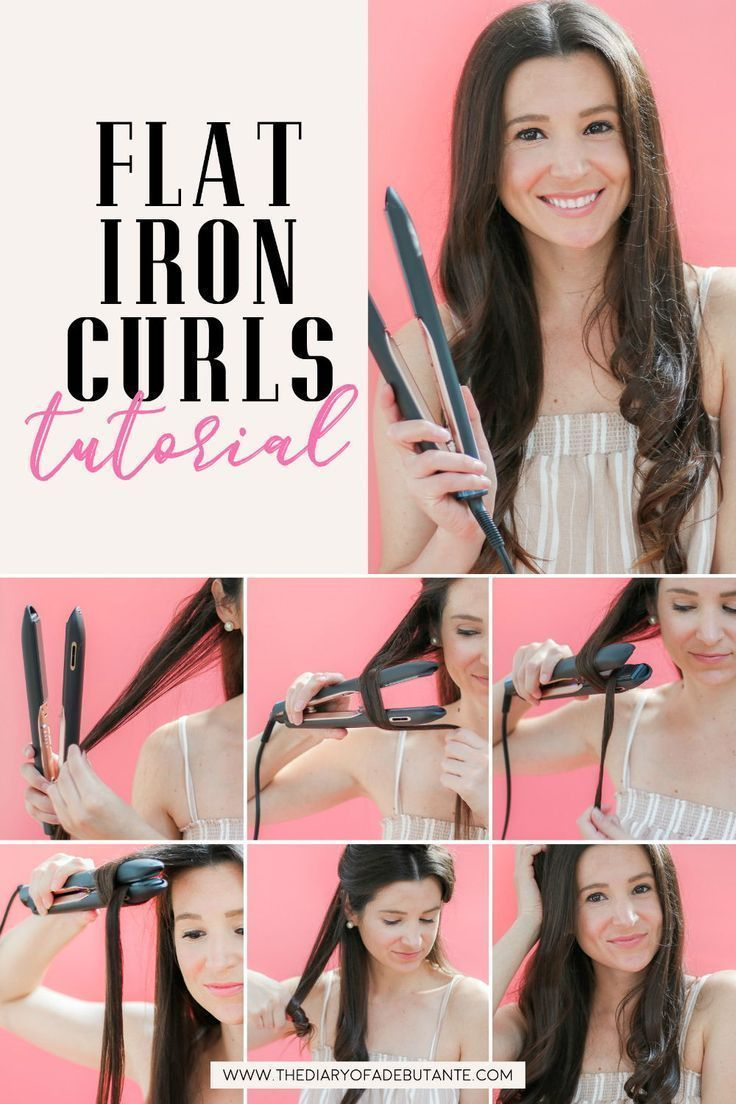 Easy Soft Flat Iron Curls Tutorial + The Best Flat Iron for Thick ...