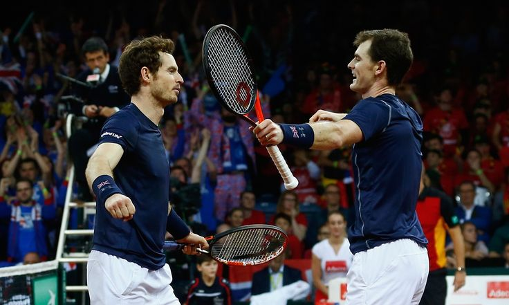 Game-by-game report: Andy and Jamie Murray beat David Goffin and Steve Darcis 6-4, 4-6, 6-3, 6-2 to give Great Britain a crucial lead in the Davis Cup 2015