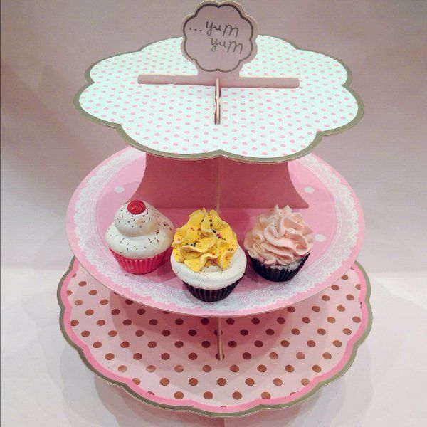 Pastry stand. 3-tier. Collapsible + reversible designs. Whimsical. ‪#‎teaparty‬ ‪#‎hightea‬ ‪#‎afternoontea‬ ‪#‎shabbychic‬ ‪#‎vintage‬ ‪#‎retro‬ ‪#‎cupcakes‬ ‪#‎patisserie‬ ‪#‎jewelryholder‬ ‪#‎bridalshower‬ ‪#‎teatime‬ ‪#‎teaware‬ ‪#‎sweets‬ ‪#‎desserts‬ ‪#‎littleluxuries‬ ‪#‎cakestand‬ ‪#‎teacups‬ ‪#‎whimsy‬ ‪#‎pastrystand‬ ‪#‎redletterstore‬