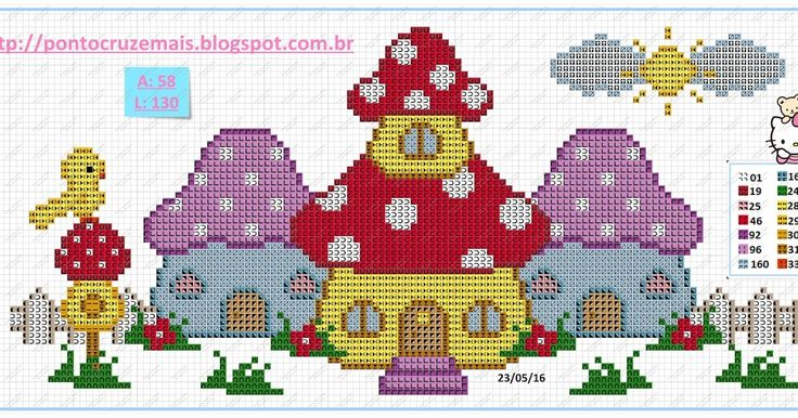 Hello Kitty cross stitch!