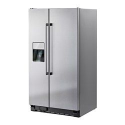 NUTID S25 Side-by-side refrigerator, Stainless steel - IKEA