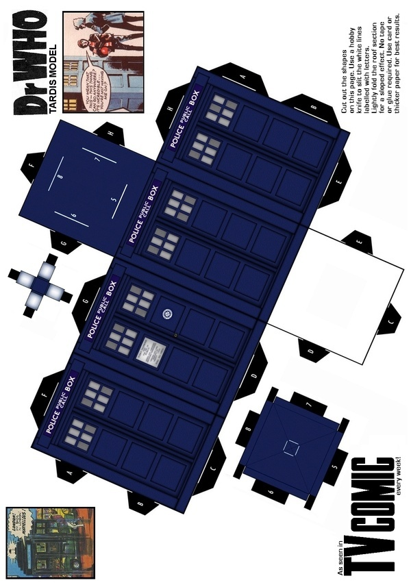 TARDIS paper model (save and print for wes when we get color toner in printer)