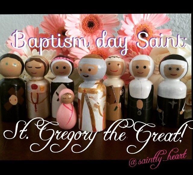St Gregory the greate St Gemma Galgani Our Lady the Mystical Rose St. Rose of Lima St. Catherine of Siena St Catherine Laboure  St. Katherine Drexel peg dolls!