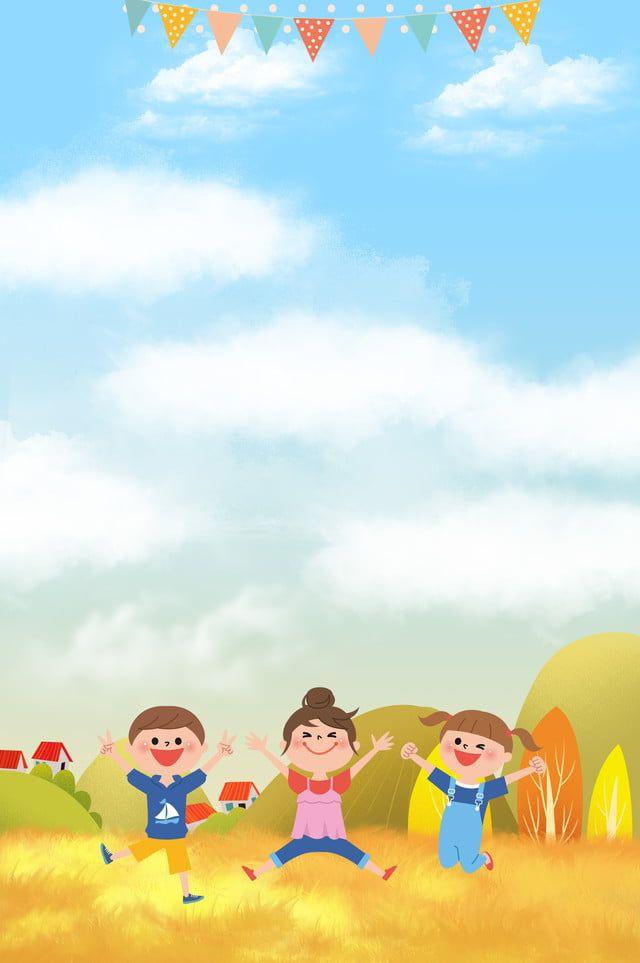 Fundo De Educacao Dos Desenhos Animados Criancas Imobiliario Ceu