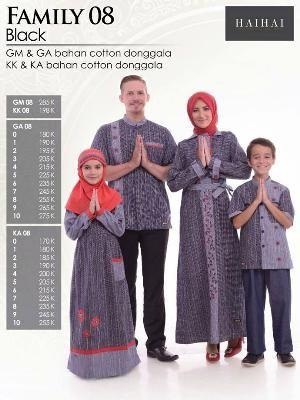 Baju Sarimbit HAI-HAI FAMILY 08 BLACK