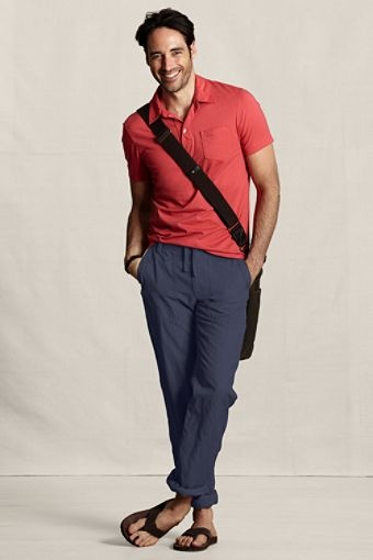 Men's Cotton-Linen Beach Pants