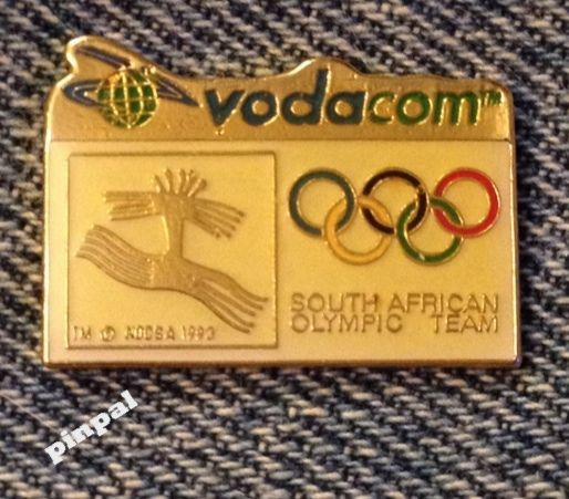 South #africa olympic team pin badge~sponsor #vodacom~1996 atlanta #summer games,  View more on the LINK: http://www.zeppy.io/product/gb/2/331925861218/