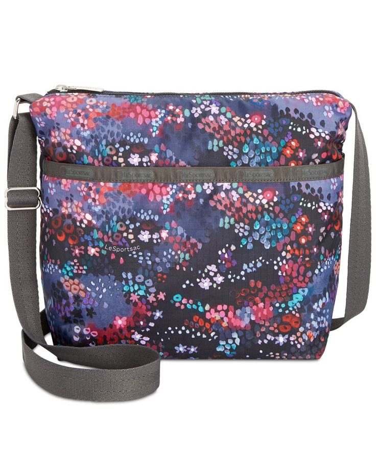 "Compact, lightweight, and totally versatile, LeSportsac's nylon crossbody is ideal for carrying your essentials for a stylish, hands-free afternoon. | Nylon | Imported | Small sized bag; 9""W x 9""H x 4"