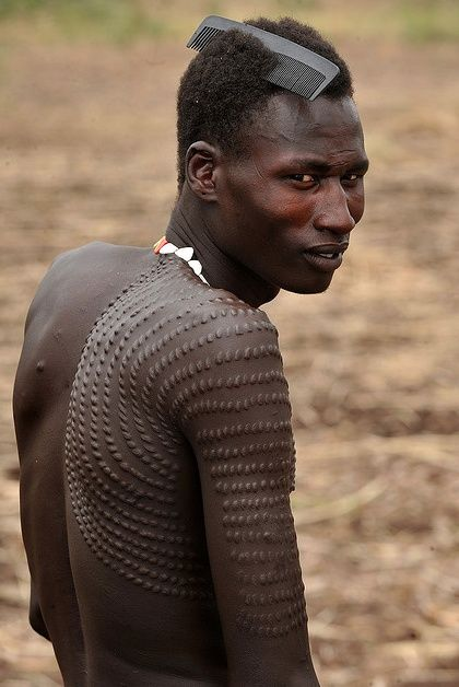 A man from the Nyangatom group in South Sudan