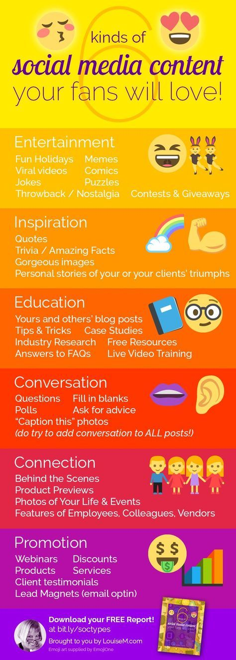 You MUST vary your social media content categories to keep your followers engaged! FREE Guide to download on the blog.