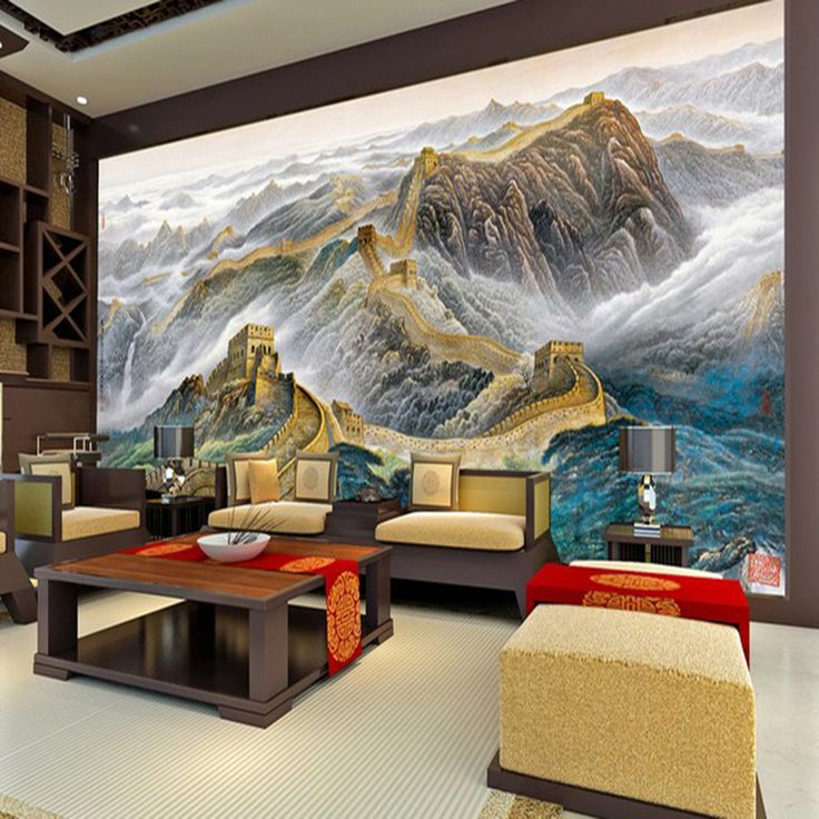 Find More Wallpapers Information About 3D Large Photo Murals Wallpapers  Chinese Landscape Wall Cloth Living Room Part 19