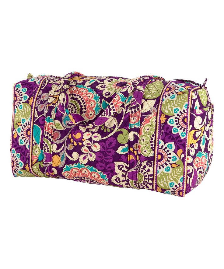 Another great find on #zulily! Plum Crazy Large Duffel Bag by Vera Bradley #zulilyfinds