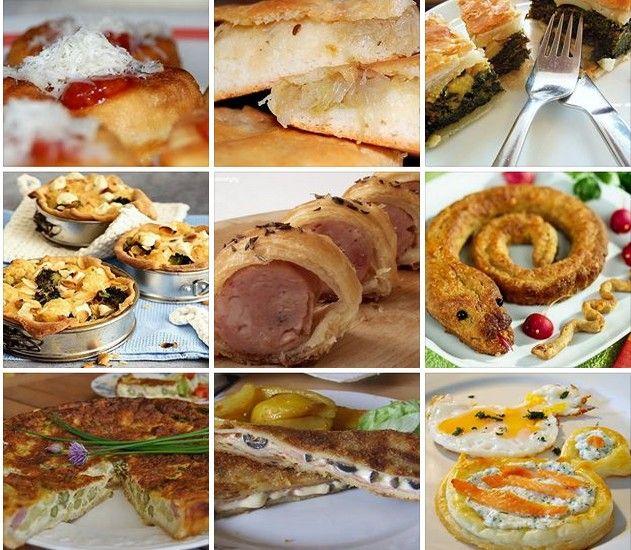 Množstvo skvelých receptov na slané koláče, torty a iné dobroty zo stránky NAJLEPŠIE pozbierané RECEPTY...