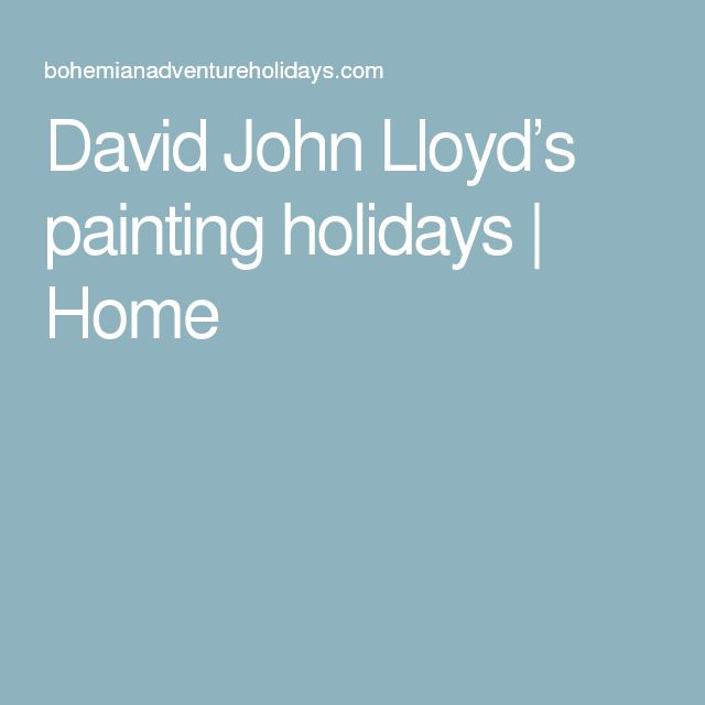 David John Lloyd's painting holidays | Home