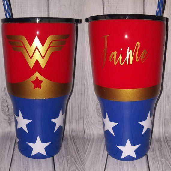 Custom Wonder Woman Tumblers!!!