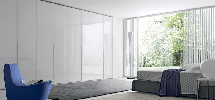 White Glass Crystal Wardrobe