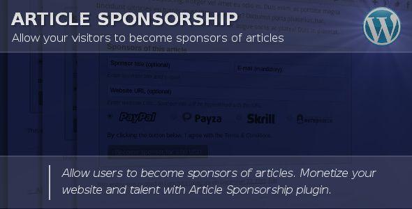 Article Sponsorship #Alertpay, #Article, #Donate, #Donation, #Halfdata, #Interkassa, #Monetize, #Monetizing, #Money, #Moneybookers, #Payment, #Paypal, #Profit, #Skrill, #Sponsor, #Sponsorship http://goo.gl/iqjLSz