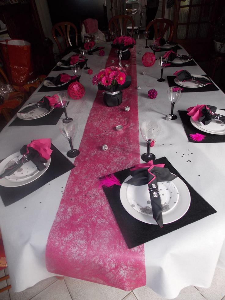 Decoration de table anniversaire 40 ans femme - Decoration de table anniversaire 20 ans ...