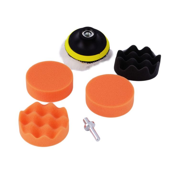 Hot Worldwide 7pcs/set 3 inch Buffing Pad Auto Car Polishing sponge Wheel Kit With M10 Drill Adapter Buffer Dropping Shipping~ -- Detailed information can be found by clicking on the image