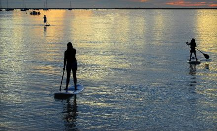 Groupon - Standup-Paddleboard Rental or Lesson for One, Two, or Four at Malibu Paddle Surf in Santa Monica (Up to 65% Off). Groupon deal price: $30.00