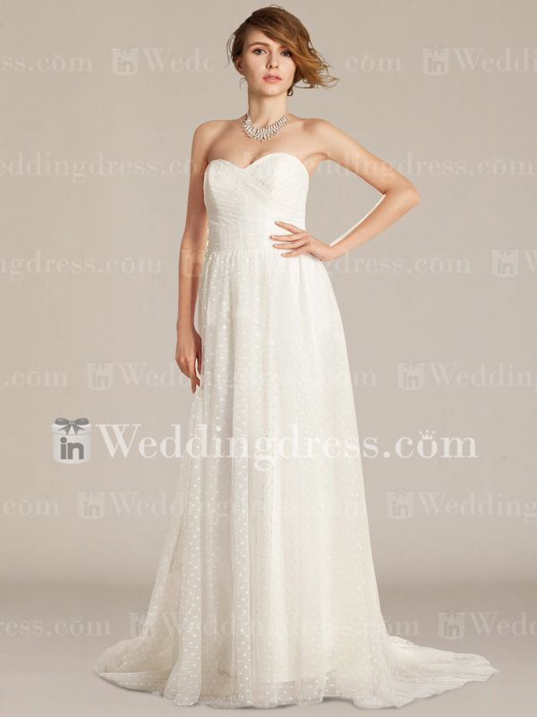 polka dots!  Simple Tulle Strapless Sweetheart Wedding Gown BC713