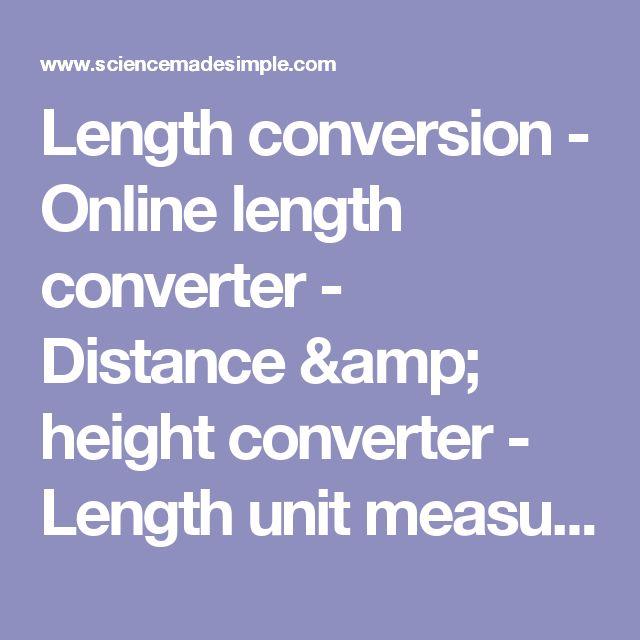 Length conversion - Online length converter - Distance & height converter - Length unit measurement