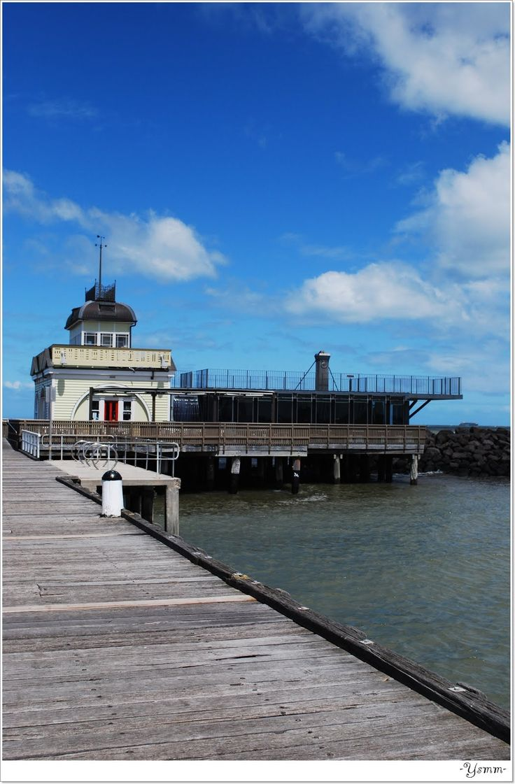 """St. Kilda Pier, Melbourne Australia """"So many awesome coffies here, and once, all the storyboard sketches for a children's book."""" KB"""