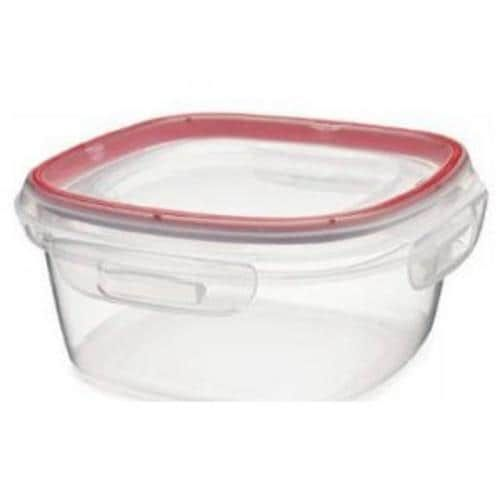 Newell Rubbermaid 1778068 Lock-its Square Container, 5 Cup, Red chili