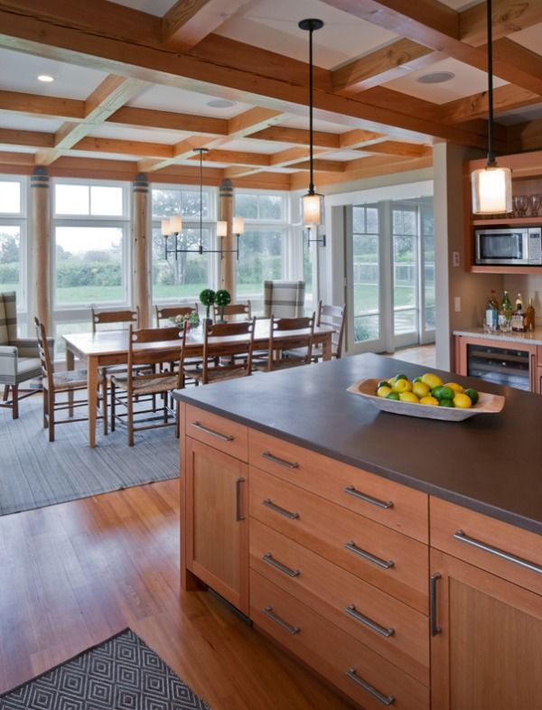 Farmhouse Meets Modern Island Countertop Cabinet Hardware