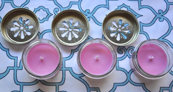Handmade soy candle for your baby shower by HomemadeNation on Etsy