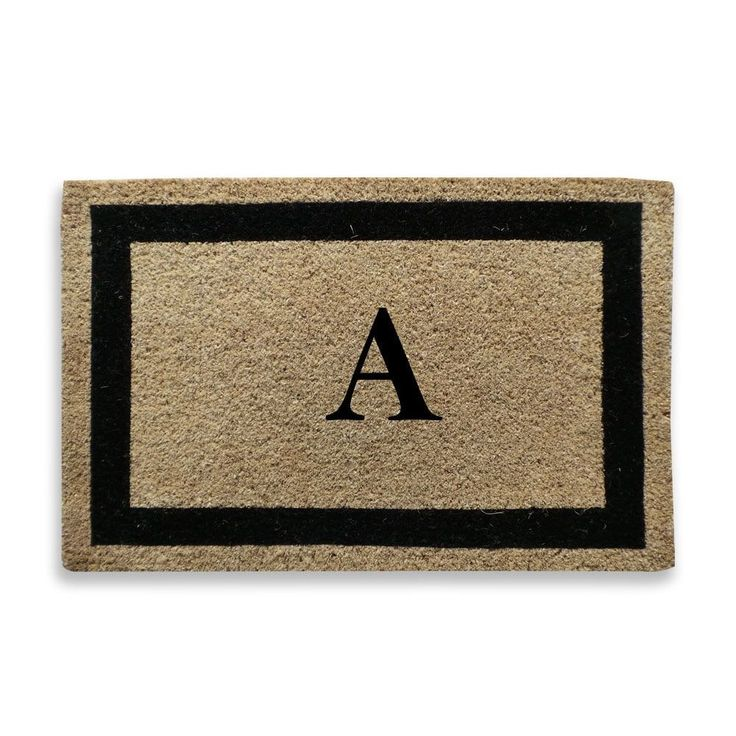 First Impression Classic Border Monogrammed Door Mat