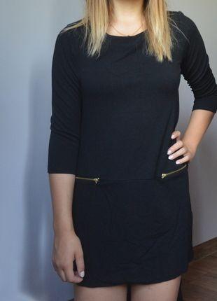 Kup mój przedmiot na #vintedpl http://www.vinted.pl/damska-odziez/krotkie-sukienki/10085705-sukienka-zlote-zipy-zamki-elegancka-czarna